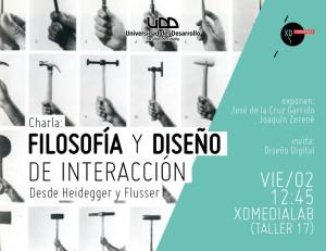 Docentes de la facultad de Diseño y Gobierno se reunen en charla sobre Filosofía y Diseño de Interacción